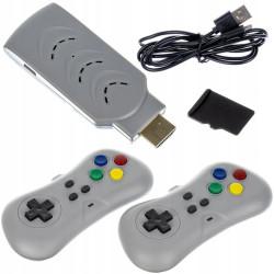 Mini Consola USB Wireless 200 Jogos Clássicos
