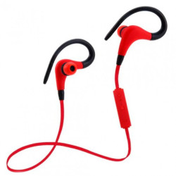 Auriculares Running Sports Bluetooth Z8tech Vermelhos