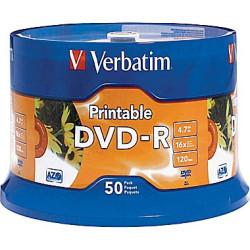 DVD-R Verbatim Imprimíveis 16X - Pack 50   - ONBIT