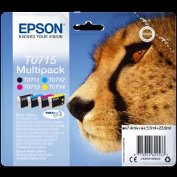 Conjunto 4 Tinteiros Epson T0715 Original Série Chita (C13T07154020)