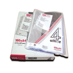 Saca Catálogo 35 microns 4Office - Pack 100 ( bolsa catálogo / micas )   - ONBIT