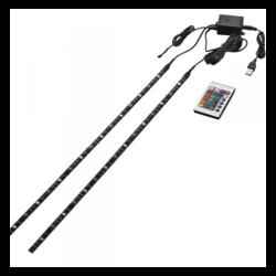 Fita LED RGB 3 Cores Aigostar para TV 50cm IP65 2.5W USB c/ Comando