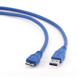 Cabo USB 3.0 Tipo A Macho a Micro B Macho 0.5m Gembird