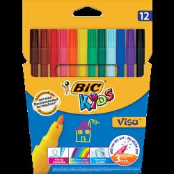 Marcadores Coloridos de Felcro BIC Kids 12 Cores