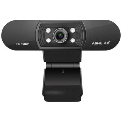 Webcam Ashu H800 Full HD 1080p c/ Microfone