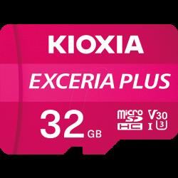 Cartão Memória Kioxia Exceria Plus C10 V30 microSDHC UHS-I 32GB