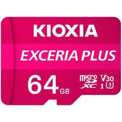 Cartão Memória Kioxia Exceria Plus C10 V30 microSDHC UHS-I 64GB