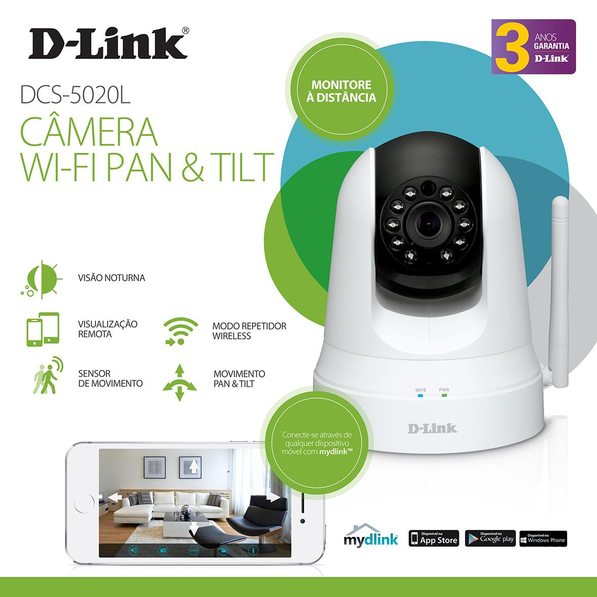 D-Link Câmara Vigilância Wireless Day/Night